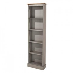 Corona Grey Tall Narrow Bookcases