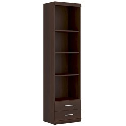 Imperial Tall 2 Drawer Narrow Cabinet with Open Shelving