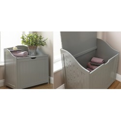 COLONIAL STORAGE HAMPER IN GREY