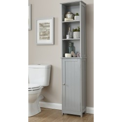 COLONIAL TALL CUPBOARD IN GREY