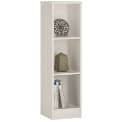 4 You Medium Narrow Bookcase in Pearl White
