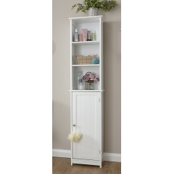 COLONIAL TALL CUPBOARD IN WHITE