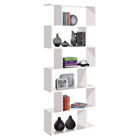 Zing White Gloss Large Bookcase