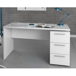 Amur White Gloss Computer Office Desk Table