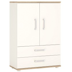 4KIDS 2 door 2 drawer cabinet with opalino handles