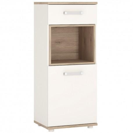 4KIDS 1 door 1 drawer narrow cabinet with opalino handles