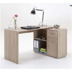Carin Corner Flexi Desk Oak Effect