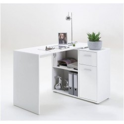 Carin Corner Flexi Desk White