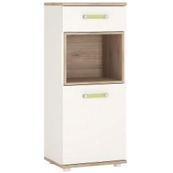 4KIDS 1 door 1 drawer narrow cabinet with lemon handles