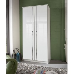 Ivana German White Gloss 2 Door Wardrobe