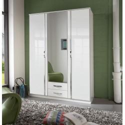Ivana German White Gloss 3 Door Wardrobe
