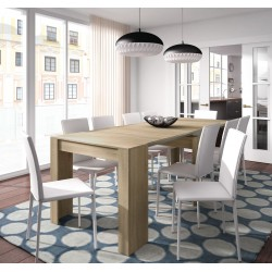 Luiz Extending Dining Table Oak Effect