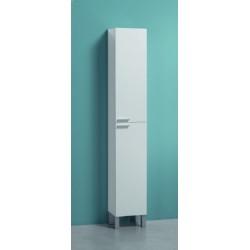 Milano Tall Narrow Bathroom Cupboard White Gloss