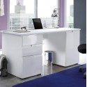 Santino Large White Gloss Computer Desk S15