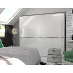 SHINE WHITE GLOSS SLIDING DOOR WARDROBE