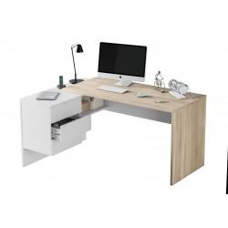 Siena Oak And White Desk