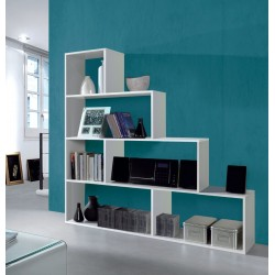 Step Bookcase White Gloss Lounge Furniture