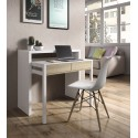 Turin White and Oak Desk/Dressing Table or Console Table