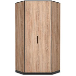 Vant Oak Effect 2 Door Corner Wardrobe