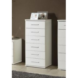 Venice Alpine white Effect Narrow Chest Of Drawers
