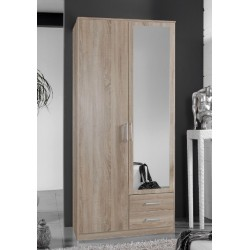 Venice Oak Effect 2d 2drw Wardrobe