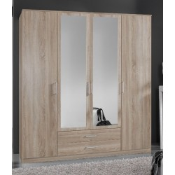 Venice Oak Effect 4d 2drw Wardrobe