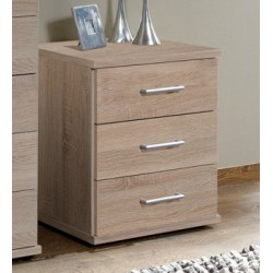 Venice Oak Effect Bedside Chest Of Drawers