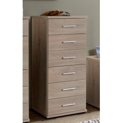 Venice Oak Effect Narrow Chest Of Drawers