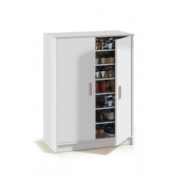 Zuldy Large 30 Pairs White Shoe Cupboard