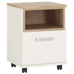 4KIDS 1 door desk mobile with lilac handles