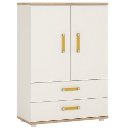 4KIDS 2 door 2 drawer cabinet with orange handles