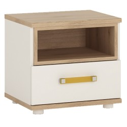 4KIDS 1 drawer bedside cabinet with orange handles