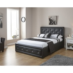 HOLLYWOOD Gas Lift Storage Bedstead In Black
