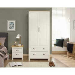 LANCASTER 2 Door 2 Drawer Wardrobe In Cream