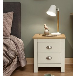 LANCASTER 2 Drawer Bedside In Cream