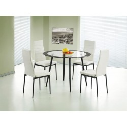 Acodia PU Chairs with White PU & Black Frame