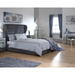 DAKOTA OTTOMAN BED WITH SOLID BASE GRACE PEWTER