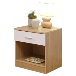 MELBOURNE BEDSIDE WHITE + OAK