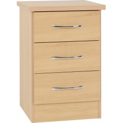 Nevada 3 Drawer Bedside Sonoma Oak Effect