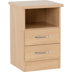 Nevada 2 Drawer Bedside Sonoma Oak Effect