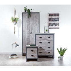 BOSTON 3 PIECE BEDROOM SET GREY