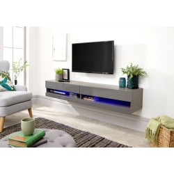GALICIA 180CM WALL TV UNIT WITH LED GREY