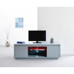 POLAR HIGH GLOSS LED LARGE TV UNIT GREY
