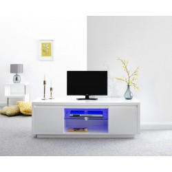 POLAR HIGH GLOSS LED LARGE TV UNIT WHITE