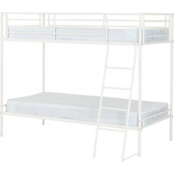 Brandon 3' Bunk Bed in Black/Silver