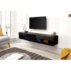 GALICIA 150CM WALL TV UNIT WITH LED BLACK