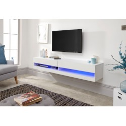 GALICIA 150CM WALL TV UNIT WITH LED WHITE