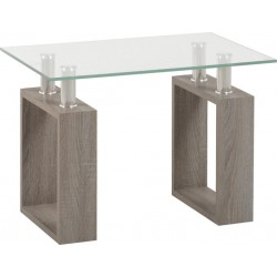 Milan Lamp Table Light Charcoal/Clear Glass/Silver