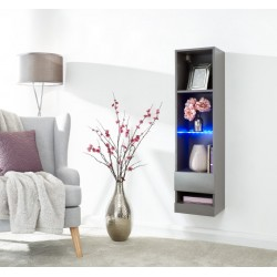 GALICIA TALL SHELF UNIT WITH LED GREY