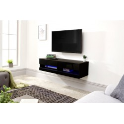 GALICIA 120CM WALL TV UNIT WITH LED BLACK